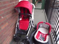 New Uppababy 2015 Single Vista Denny red colour buggy can be upgraded for double or for twins