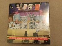 Play Your Cards Right ..... grea fun board game NEW