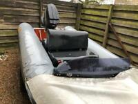 Flatcraft force 4 inflatable rib boat 50cc outboard