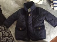 Baby Boys quilted coat 0-3 months