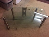 Glass and Chrome TV Cabinet/Unit