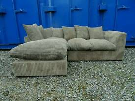 Mink Corner Sofa *Good Condition,Delivery Available*