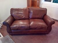 Laura Ashley 2-seater 'Harrogate' leather sofa.