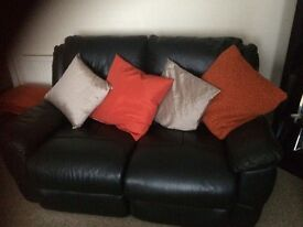 2 seater and 3 seater leather recliner