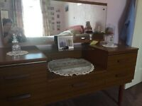 Retro wardrobe, dressing table & Chester draw - FREE collect only