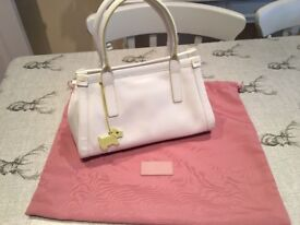 Ladies White Radley Handbag With Dustbag Immaculate