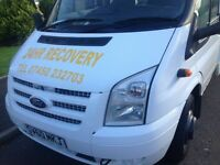 24hr ford transit recovery for hire