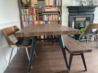 Rustic reclaimed wood dining table & bench - Barker & Stonehouse