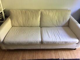 John Lewis Bailey Three Seater Sofa in Cream
