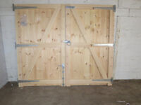 1 x Pair of hand custom made wooden T & G Tongue & Groove garden driveway gates