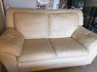 Cream leather sofas - free