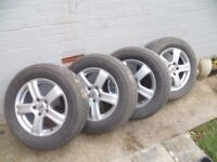 Freelander alloy wheels and tyres, 215/65
