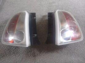 Pair of fiat 500 rear lights