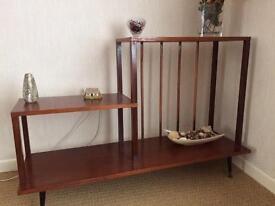 Mahogany veneer and copper display unit