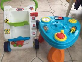 Little Tikes Baby Walker and activity table set