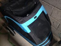 Dog stroller blue and black suitable for up to large dogs immaculate condition used 3 times