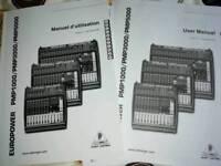 Manuals for Behringer Mixer PMP1000/3000/5000
