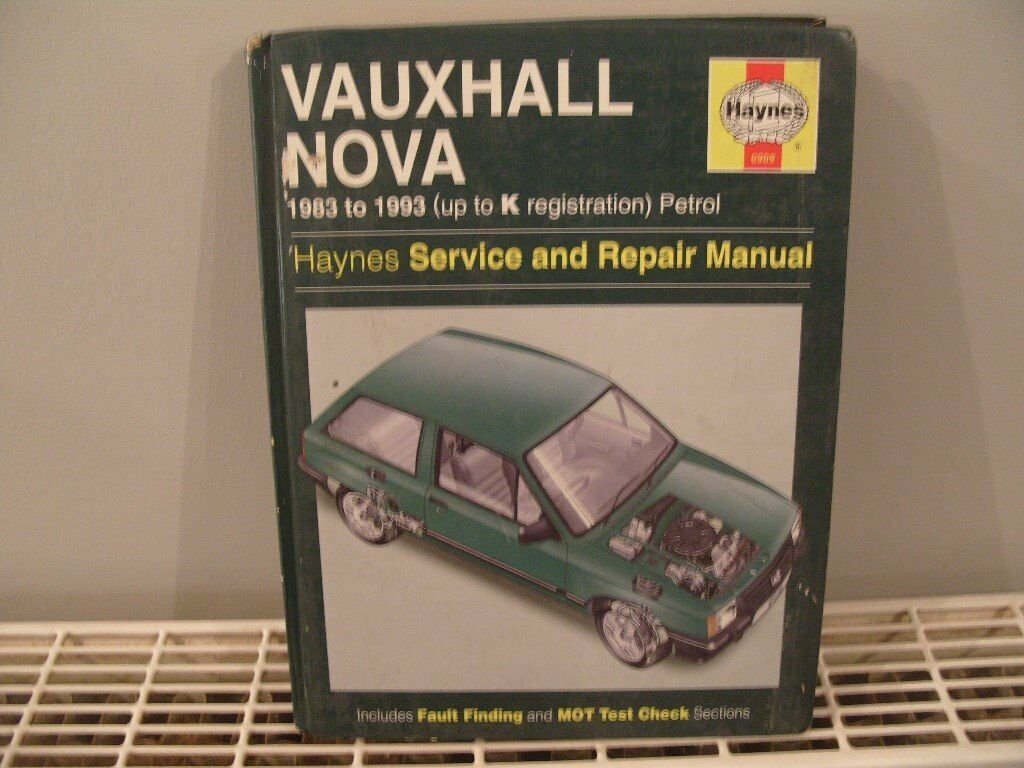 Vauxhall Nova Haynes service & repair Manual 1983 to 1993
