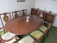 G Plan Dining Table And Sideboard With 6 Chairs 2 Carver