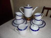 15 Piece Tienshan Porcelain Coffee Set