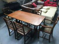 Ercol table and 6 chairs in excellent condition