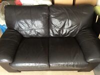 2-seater brown sofa from DFS