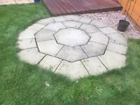 Stone patio - octagon shape