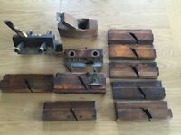 A selection of vintage planers