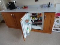 INTERGRATED FRIDGE WITH UNIT/WORK TOP