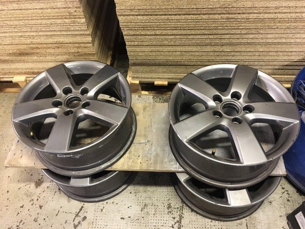 "Genuine VW Alloy Wheels 16"" 5x112 fitment."