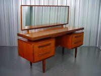 G-Plan Fresco Teak Dressing Table Designed By V.B. Wilkins, 1960's