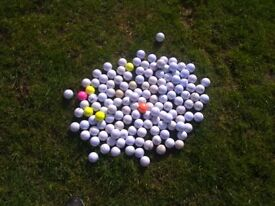 150 used golf balls