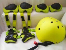 Kids Helmet and Pads Set