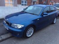 BMW 1SERIES 2.0D MANUAL 1YEAR MOT, METALLIC BLUE £1600