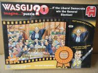 """Wasgij Imagine puzzle, """"General Election Special"""" Liberal Democrats. 1000 pieces. New and Sealed."""