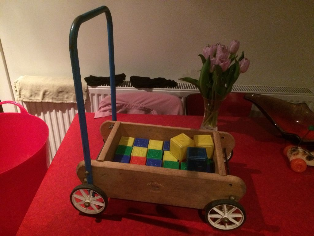 Toys That Were Made In The 1970 : Vintage s crescent toy co baby walker plastic bricks