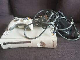 White Xbox 360 with controller