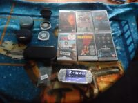 FOR SALE Sony PSP 2000 6 films 2 official games 8gig memory card plus extras