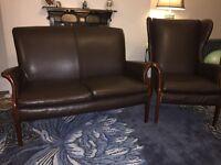 retro Parker Knoll 3 piece sofa suite