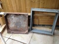 Heavy Duty Dished Galvanised Manhole Cover and Frame