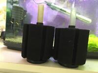 Aquarium fish tank sponge filters - large x2