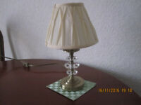 Table lamp by Maison, white shade, in good condition, from smoke and pet free home, ? 20