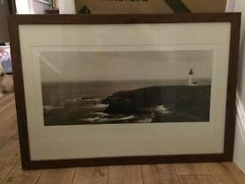 Large coastal Black and white picture