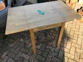 Beech drop leaf table £20