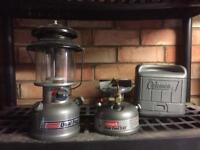 Coleman Petrol stove and petrol lantern
