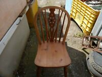 Pine Farmhouse Style Dining Spindle Back Chair