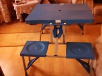 Folding Camping Table & Integrated Seats