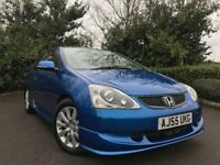 2005 (55) Honda Civic 1.6i VTEC Sport 3 DOOR 61,000 MILES HONDA SERVICE HISTORY IMMACULATE CONDITION