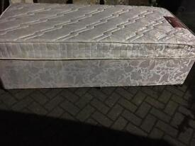 Single divan bed with mattress-40 delivered