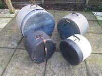 Drums - Set of Vintage Drum Cases - Spalding Russell & LeBlond